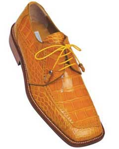 Mens Ferrini F206 World Best Alligator ~ Gator Skin Brogue Shoes Caramel