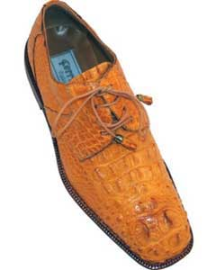 Ferrini F228 Hornback World Best Alligator ~ Gator Skin Derby Shoes Camel