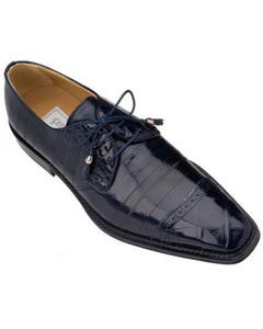 Navy Genuine Alligator/Eel Shoes