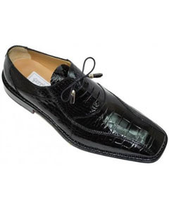 Black All-Over Genuine Alligator