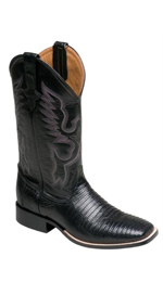 Mens Cowboy Lizard S-Toe Ferrini Men's Cowboy Lizard S-Toe Boots flaunt in a complete western style with this ravishing high end fashion Ferrini Men's Cowboy Lizard S-Toe Boots embossed designer print over the thick layer of leather gives a sense of classic touch excellent craftsmanship and fine modern details which include lizard striped pattern on the boot is the added chic factor of this collection composed of a full grain leather upper with welt construction these pull on cowboy boots feature 11 inches shaft height, oil resistant rubber sole, 1.25 inch heel height, padded footbed and complete handmade finish this stylish s-toe boots offer you a special look in all parties