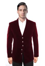 5 Button Dark Burgundy ~ Wine ~ Maroon Color Velvet Cheap