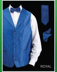 4 Piece Groomsmen Dress Tuxedo Wedding Dress Tuxedo Wedding Vest Set (Bow Tie Neck Tie Hanky) -