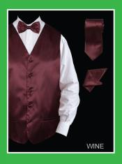 4 Piece Dress Tuxedo Wedding Vest ~ Waistcoat ~ Waist coat