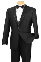 Collar Trimmed No Pleated Pants Tuxedo & Formal Slim Fit Suits