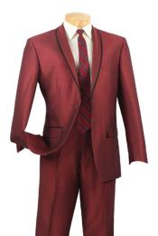 Maroon Shawl Collar Tuxedo & Formal Slim Fit Suits