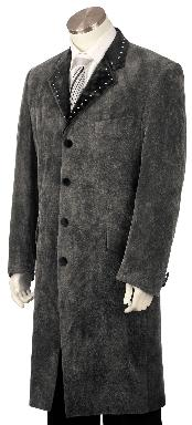 Stylish 4 Button Grey Long Zoot Suit45 Long Jacket EXTRA LONG