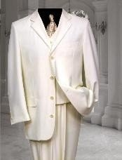 White Tuxedo 2/3 Button Vested 3 Pieces Vested Pleated Pants