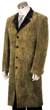 High Fashionable 4 Button Long Zoot Suit Taupe
