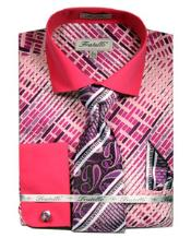 Dress Fuchsia Pattern Shirts