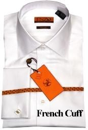Shirt White Twill French Cuff
