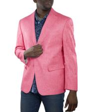 Mens Fuchsia One Ticket Pocket Thread and Stitch Blazer