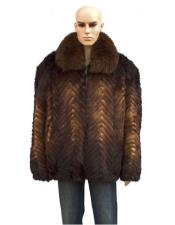 Genuine Mink Whiskey Jacket