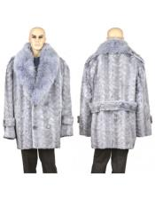 Mens Fur Sapphire Genuine Mink Paws Designer Mens Wool Mens Peacoat Sale
