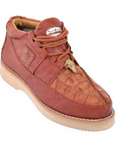 Top Exotic Skin Sneakers for Men Los Altos Cognac Genuine Crocodile