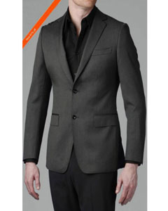 Fitted Tapered Slim Cut Vented Suits European Design+Flat Front no pleated Pants
