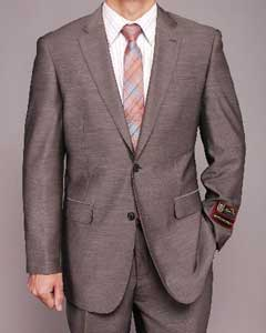Gray patterned 2-button Suit - Dress Suit For Men 2 Piece