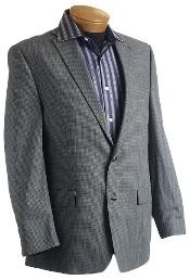 Gray Designer Classic Tweed houndstooth checkered Sports Jacket