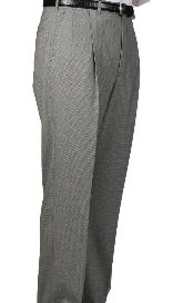 houndstooth checkered pattern Somerset Pleated Trouser unhemmed unfinished bottom
