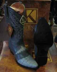 Gray Western Cowboy Boot