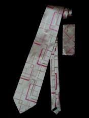 Tie W Hanky Pink