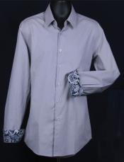 Slim Fit  - Cuff Pattern Mens Dress Shirt