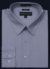 Slim Fit Dress Shirt - Gray Color