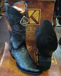 Exotic Gray Snip Toe Genuine Ostrich Western Cowboy Boot