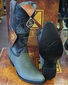 King Exotic Boots Gray Snip Toe Genuine Shark Western Cowboy Dress Cowboy