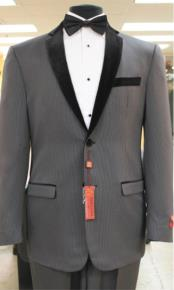 2 button  collar or Formal Suit & Dinner Jacker or Blazer with Black Edge Trim