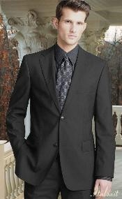 Gray 2 Button Wool 2pc Suit Super 150s with Hand Pick