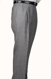 Wool Gray Parker Pleated