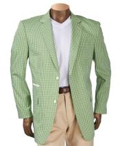 Mens Green Checker ~ Plaid ~ Windowpane Mens Blazer ~ Sportcoat ~ Jacket