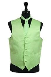 Vest Tie Set Mint Green