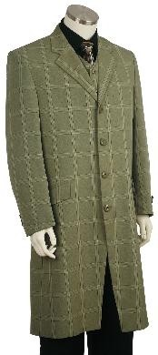 Fashion Plaid ~ Windowpane Zoot Suit Green