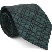 Forest Green Gentlemans Necktie with Matching Handkerchief - Tie Set