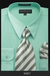 Dress Shirt - Premium Tie - Mint Green Lime