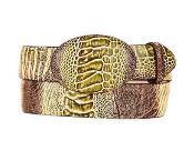 Rustic Original Ostrich Leg Skin Western Style Belt