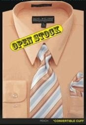 high quality Mens Basic Shirt with Matching Tie and Hanky dress