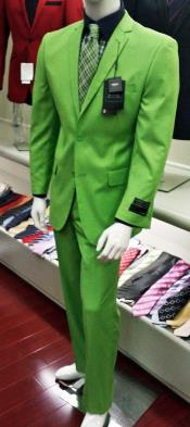 Mens Italian Design lime mint Green ~ Apple ~ Neon Bright