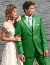Stunning Green Two Button Tuxedo 7 days delivery