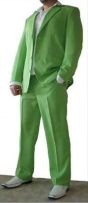 Beautiful Mens lime mint Green ~ Apple ~ Neon
