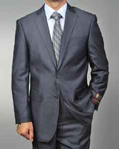 Mens Grey Teakweave 2-button Suit
