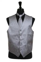 A I S L E Y tone on tone Dress Tuxedo Wedding Vest Tie Set Grey