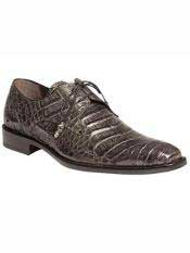 Brand Grey Genuine Crocodile Wrapped Tassel Shoes