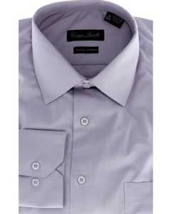 Modern-fit Grey Mens Dress Shirt