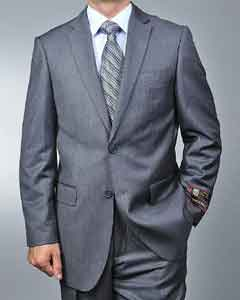 Grey Pinstripe 2-button Suit