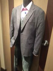 Grey Notch Lapel 2 Button Sport Jacket Cheap Priced Designer Fashion
