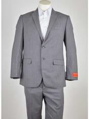 Notch Lapel Grey/Lavender 2 Button Single Breasted Suit