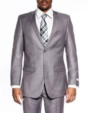 classic grey extra slim fit wedding prom skinny suit